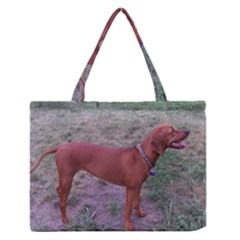 Redbone Coonhound Full Medium Zipper Tote Bag