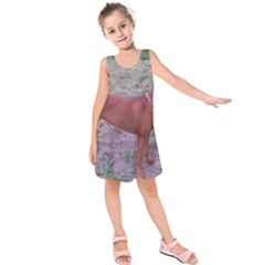 Redbone Coonhound Full Kids  Sleeveless Dress