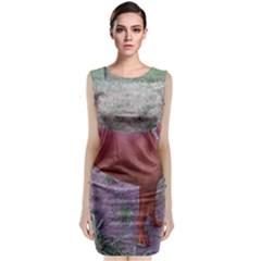 Redbone Coonhound Full Sleeveless Velvet Midi Dress