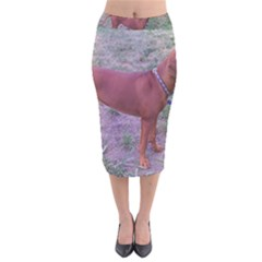 Redbone Coonhound Full Velvet Midi Pencil Skirt