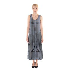 Steelgraypowderpoppies Sleeveless Maxi Dress
