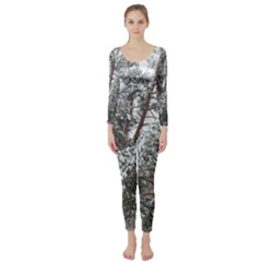 Winter Fall Trees Long Sleeve Catsuit