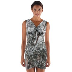 Winter Fall Trees Wrap Front Bodycon Dress