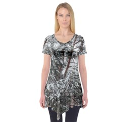 Winter Fall Trees Short Sleeve Tunic