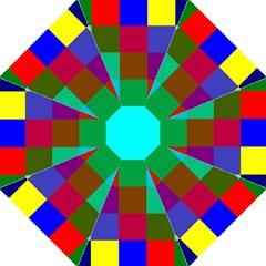 Chessboard Multicolored Straight Umbrellas