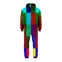 Chessboard Multicolored Hooded Jumpsuit (Kids)