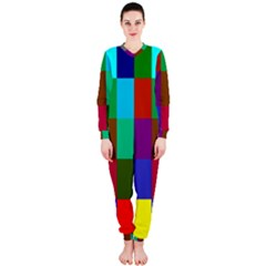 Chessboard Multicolored OnePiece Jumpsuit (Ladies)