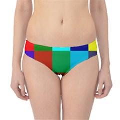 Chessboard Multicolored Hipster Bikini Bottoms