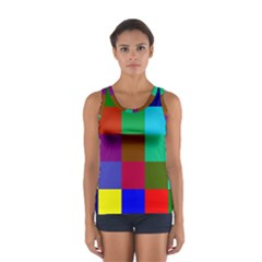 Chessboard Multicolored Women s Sport Tank Top