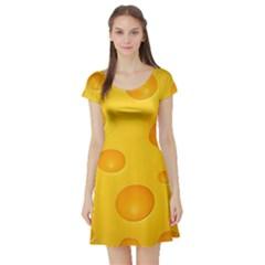 Cheese Short Sleeve Skater Dress
