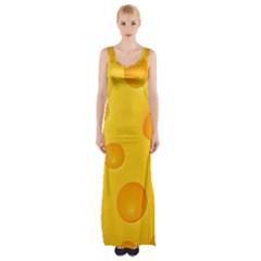 Cheese Maxi Thigh Split Dress