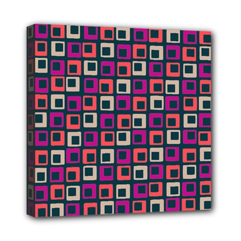 Abstract Squares Mini Canvas 8  x 8