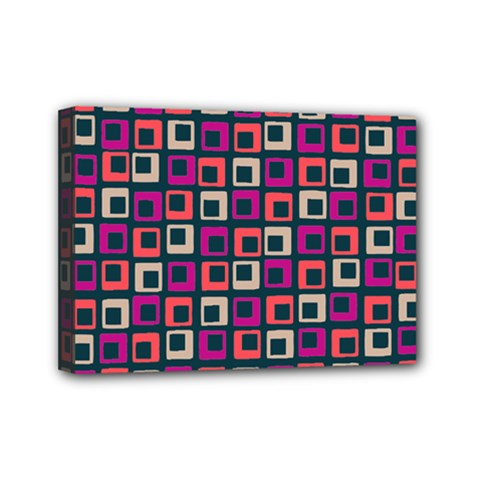 Abstract Squares Mini Canvas 7  x 5