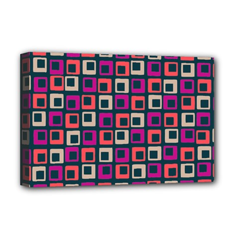 Abstract Squares Deluxe Canvas 18  x 12