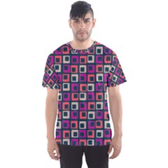 Abstract Squares Men s Sport Mesh Tee