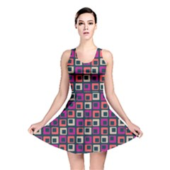 Abstract Squares Reversible Skater Dress