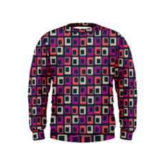 Abstract Squares Kids  Sweatshirt