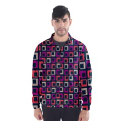 Abstract Squares Wind Breaker (Men)