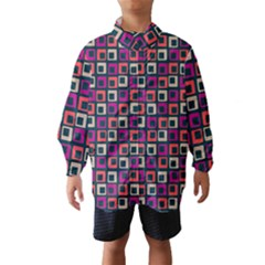 Abstract Squares Wind Breaker (Kids)