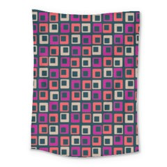 Abstract Squares Medium Tapestry