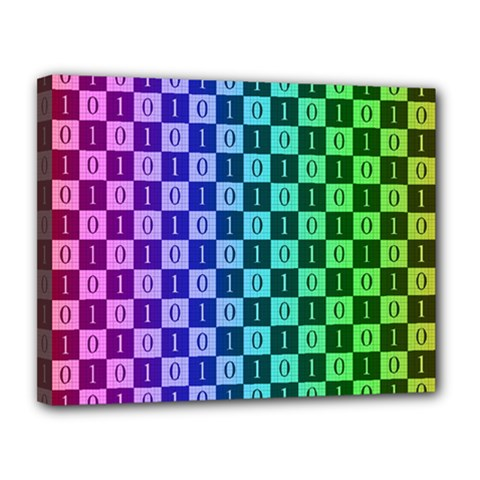 Checker Number One Canvas 14  x 11