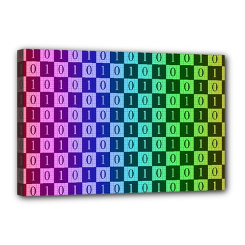Checker Number One Canvas 18  x 12
