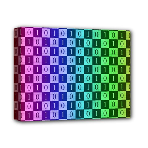 Checker Number One Deluxe Canvas 14  x 11