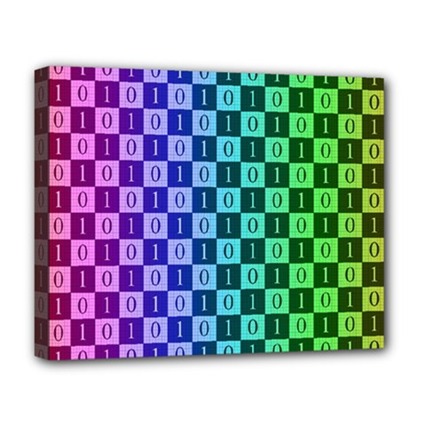 Checker Number One Deluxe Canvas 20  x 16