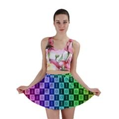 Checker Number One Mini Skirt