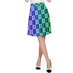 Checker Number One A-Line Skirt