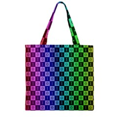 Checker Number One Zipper Grocery Tote Bag