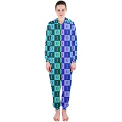 Checker Number One Hooded Jumpsuit (Ladies)