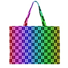 Checker Number One Large Tote Bag