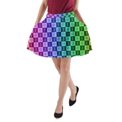 Checker Number One A-Line Pocket Skirt