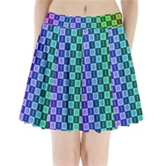 Checker Number One Pleated Mini Skirt