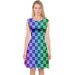 Checker Number One Capsleeve Midi Dress