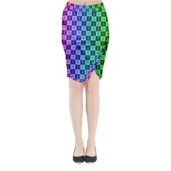 Checker Number One Midi Wrap Pencil Skirt