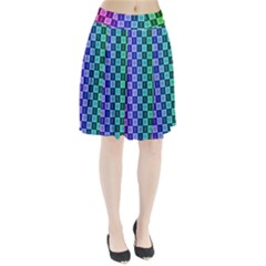 Checker Number One Pleated Skirt