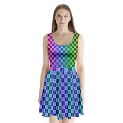 Checker Number One Split Back Mini Dress