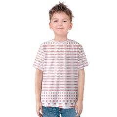 Dalmatian Red Circle Kids  Cotton Tee