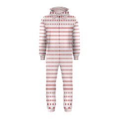 Dalmatian Red Circle Hooded Jumpsuit (Kids)