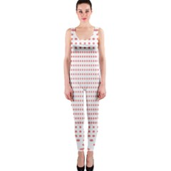 Dalmatian Red Circle OnePiece Catsuit