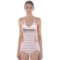 Dalmatian Red Circle Cut-Out One Piece Swimsuit