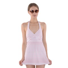 Dalmatian Red Circle Halter Swimsuit Dress