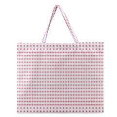Dalmatian Red Circle Zipper Large Tote Bag