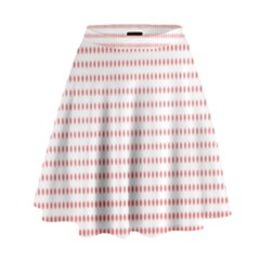 Dalmatian Red Circle High Waist Skirt
