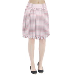 Dalmatian Red Circle Pleated Skirt