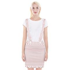 Dalmatian Red Circle Suspender Skirt