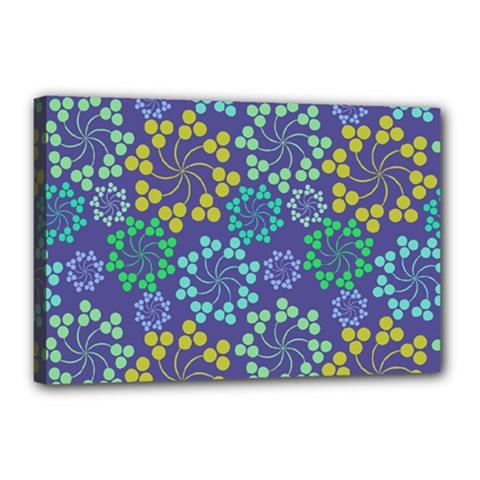 Color Variationssparkles Pattern Floral Flower Purple Canvas 18  x 12