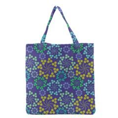 Color Variationssparkles Pattern Floral Flower Purple Grocery Tote Bag
